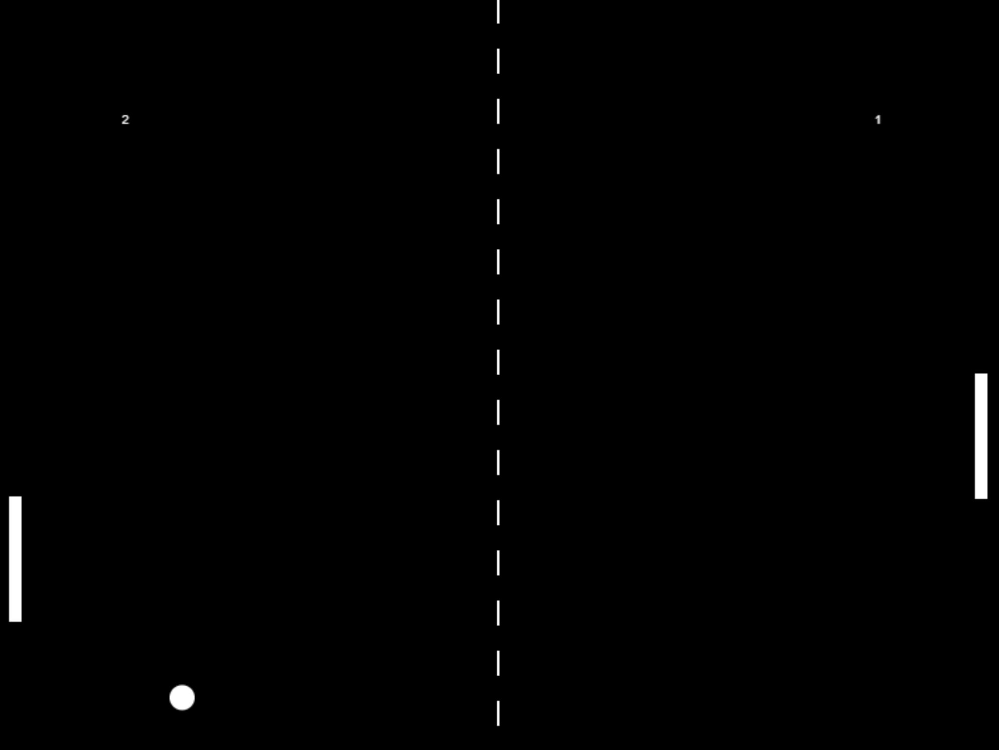 Pong game screenshot